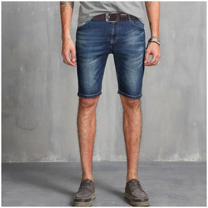 man in shorts wearing matte finish modern leather belt