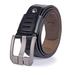 Load image into Gallery viewer, black matte finish modern leather belt
