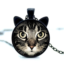 Load image into Gallery viewer, tawny cat face pendant