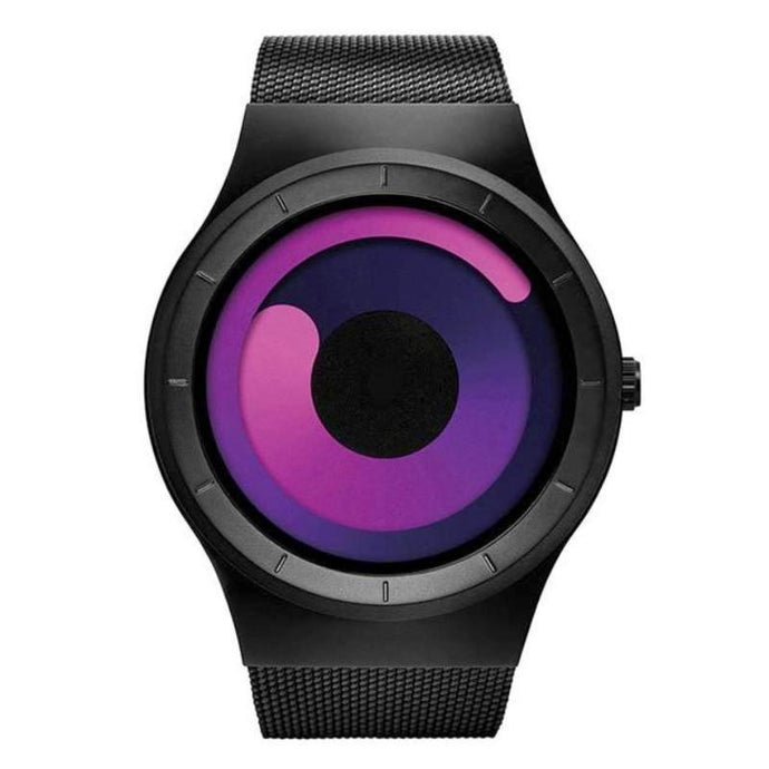 magenta swirl modern artist watch face minimalist watch for men