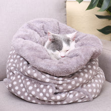 Load image into Gallery viewer, Polka Dot Kitty Sleeping Bag