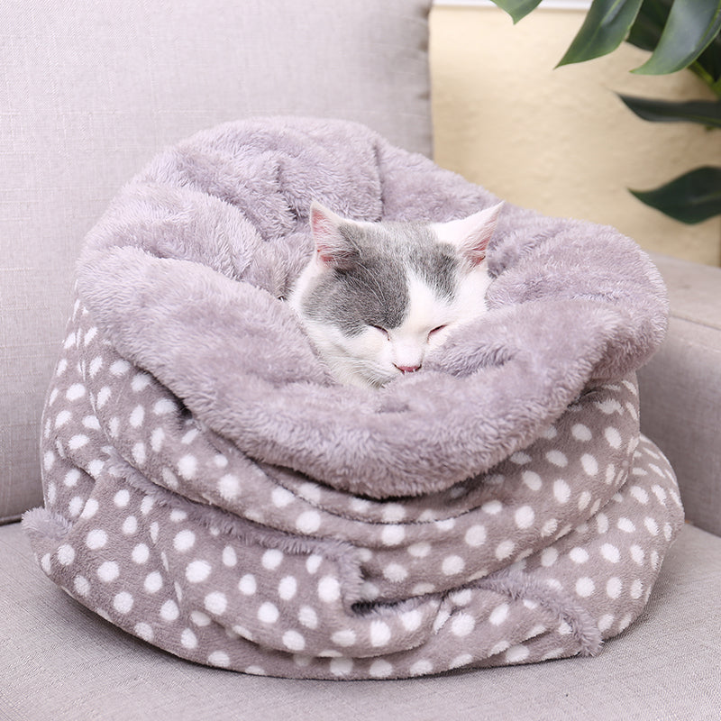 Polka Dot Kitty Sleeping Bag