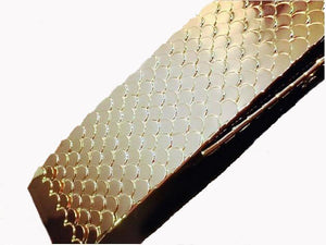 gold snake skin belt folded