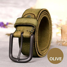 Load image into Gallery viewer, textured olive leather belt