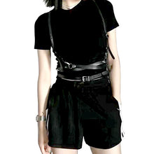 Load image into Gallery viewer, harness belt shown on black outfit