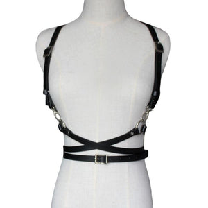 black harness belt front view