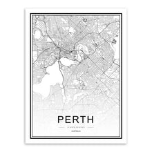 Load image into Gallery viewer, Modern Black and White World City Maps