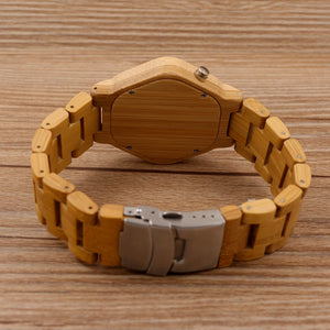 Minimalist Bamboo Mens' Watch