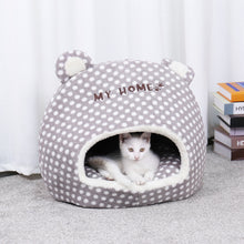Load image into Gallery viewer, Comfy Soft Pet Cave Bed with Ears