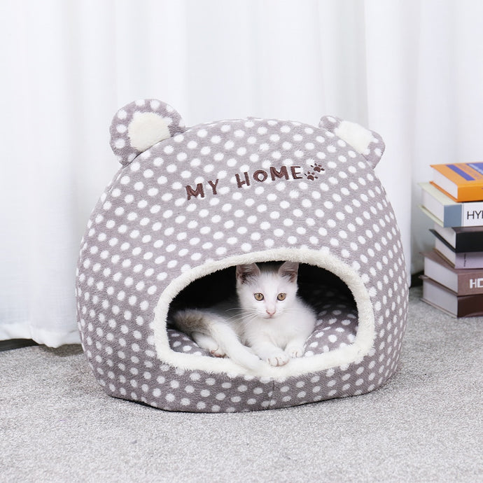 Comfy Soft Pet Cave Bed with Ears