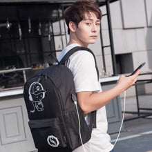 Load image into Gallery viewer, USB Charging Glow Coolio Backpack