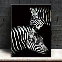 Load image into Gallery viewer, Just the two of Us - Zebra on Black Poster