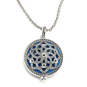 ornate mandala style diffuser necklace