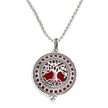 Load image into Gallery viewer, tree of life style diffuser necklace