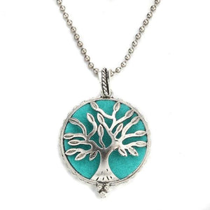 simplified tree of life style diffuser necklace