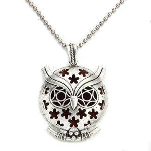 stars on owl style diffuser necklace