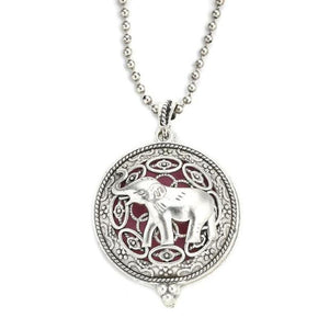 elaborate elephant style diffuser necklace