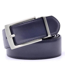 Load image into Gallery viewer, sturdy navy belt faux leather belt