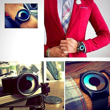 Load image into Gallery viewer, collage 2 of men wearing modern swirl minimalist watch