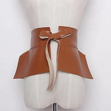 Load image into Gallery viewer, camel pablum leather belt