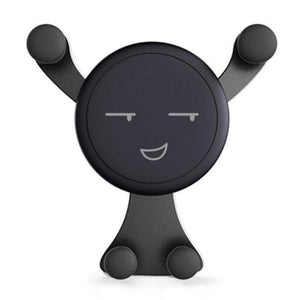 black emoji phone holder