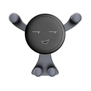 gray emoji cell phone holder