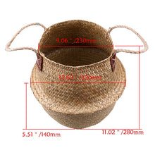 Load image into Gallery viewer, Decorative Seagrass Natural Rattan Storage Basket