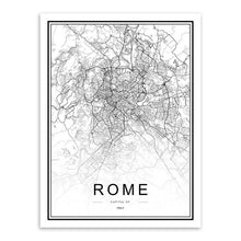 Load image into Gallery viewer, World Cities Street Maps - Wall Art Prints