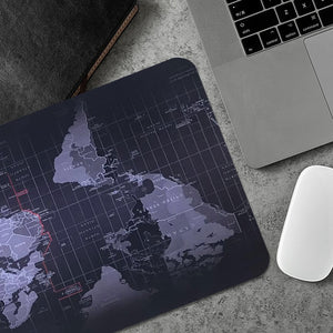 Edgy World Map - Waterproof Gaming Desk Mousepad
