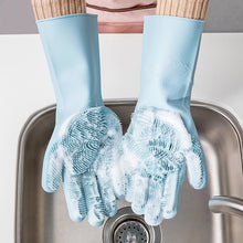 Load image into Gallery viewer, 2-in-1 Silicone Heat Insulated Cooking Mits & Scouring Gloves