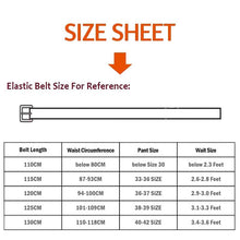 Load image into Gallery viewer, automatic adjustable leather belt sizing chart