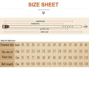 textured hunter green leather belt sizing chart