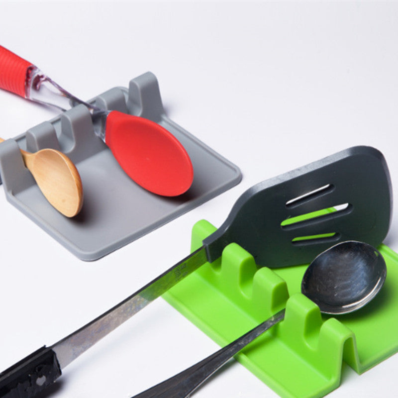 Cooking Holder Tool Kitchen Silicone Spoon Rest Gadget Tools Rack Storage