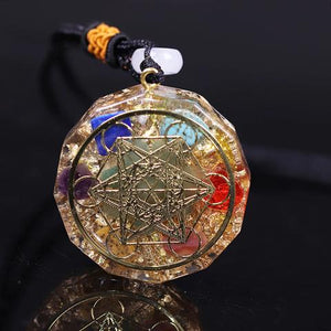 7 Chakra Energy Pendant Orgonite Necklace Reiki Energy Pendant