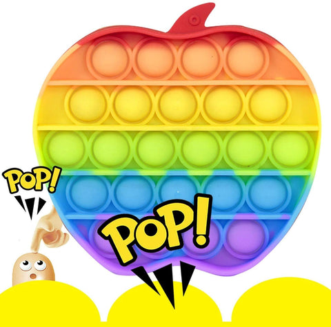 Push Pop Pop Popping Bubble Popit Popitz Fidget Sensory Toy Pop Its Game for Boys and Girls, Autism Special Needs Figetget Toy for ADHD Anxiety & Stress Relief Gifts for Kids and Adults Apple