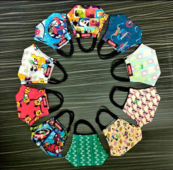 Mask Kids Cotton Hand Made with Filter USA Seller