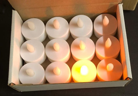 12 Pcs 1 Box Candle Light for Festival Halloween Diwali Christmas Décor lighting