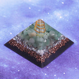 Reiki Healing Orgonite Pyramid Energy Converter Orgone Accumulator Stone That Changes The Magnetic Resin Home Office Decor 8CM