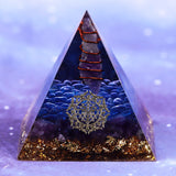 Orgonite Energy Pyramid Decoration Orgone Accumulator Stone That Changes The Magnetic Field Of Life Reiki Healing Resin Jewelry Size- 6CM