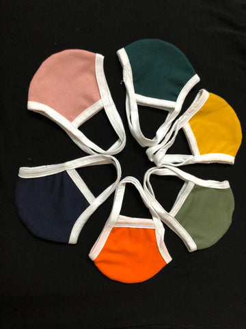 Mask hand made Double Layer 100% cotton 5 pcs for Adult unisex multi color