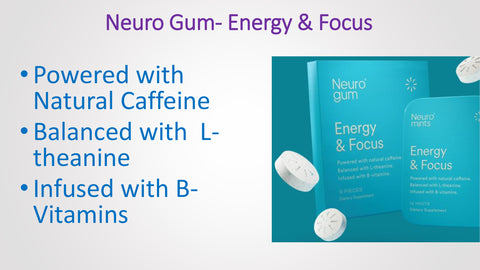 Neuro Gum ENERGY & FOCUS  Flavor Peppermint Cinnamon