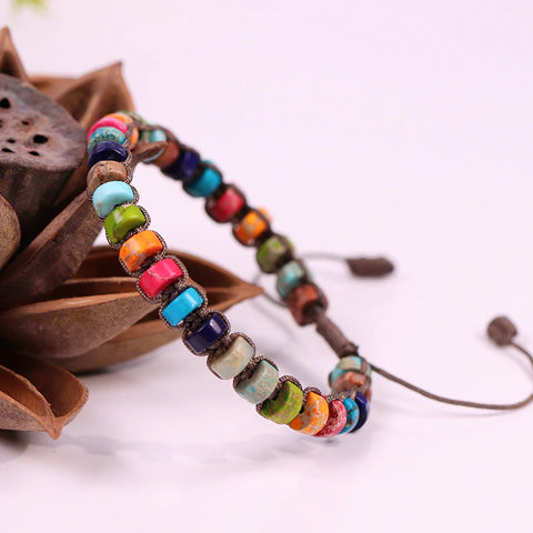 New Design Woven Bracelet Handmade Multi-layer Natural Stone Beaded Bangle Women Gift Jewelry