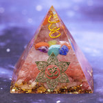 Energy Generator Orgone Pyramid For Emf Protection & Healing Meditation Crystal Chakra Pyramid Ornaments Size- 6CM
