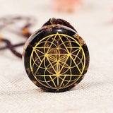 Seed of life Ancient Orgon Energy Crystal Pendant Chakra Symbol Orgonite Transport Necklace Natural Stone Reiki Healing