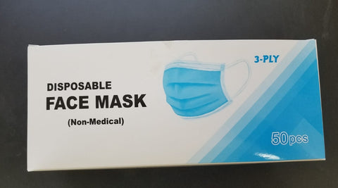 Disposable FACE MASK 3-PLY 2000 Pcs  General non-medical purposes,