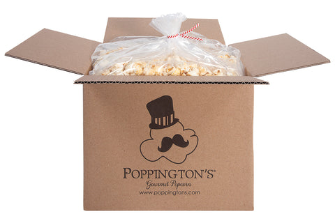 Bulk Popcorn Box with 3-Gallons of fresh delicious gourmet popcorn by Poppington's Gourmet Popcorn