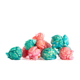 Cotton Candy Popcorn- soft pastel color with hues of darker shades of color STUNNING