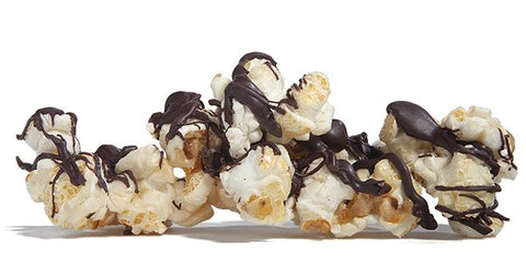 Dark Chocolate Drizzled Kettle Korn by Poppington's Gourmet Popcorn