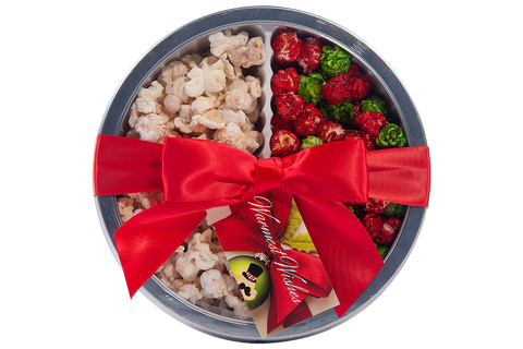 Double Treat Holiday Gift Tin with two flavor choices by Poppington's - Poppington's Gourmet Popcorn