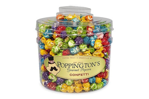 Fruit Flavored Rainbow Confetti Candy Popcorn with Free Scoop - Poppington's Gourmet Popcorn